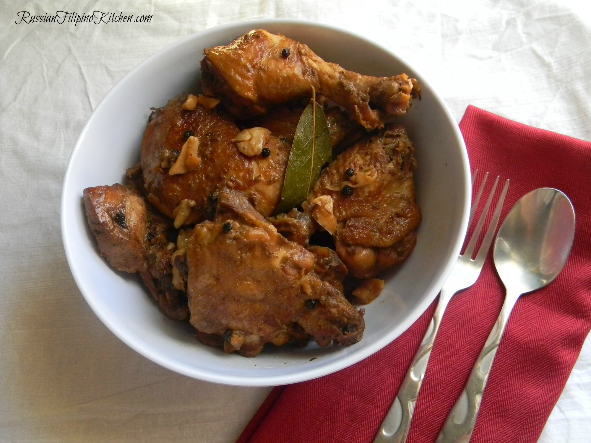 Chicken Adobo (Chicken Cooked In Soy Sauce And Vinegar ...