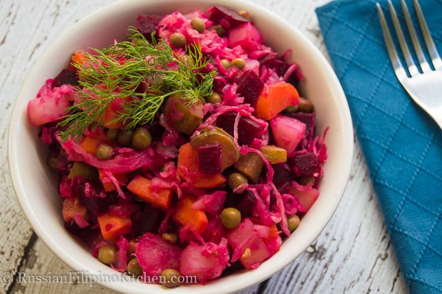 Russian Beet Salad (Vinaigrette / Vinegret)
