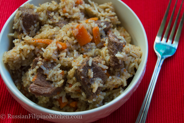 Beef Plov (Rice Pilaf) | Russian Filipino Kitchen