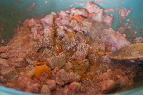 Pork Binagoongan (Pork With Salted Shrimp Paste)11