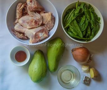 Tinolang Manok (Filipino-style Chicken Soup) 02